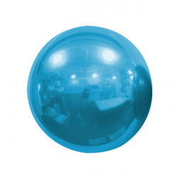 "LIGHT BLUE 40cm/16"" MIRROR GLOBE FOIL BALLOON"