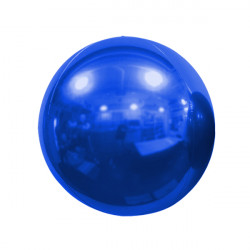 "BLUE 40cm/16"" MIRROR GLOBE FOIL BALLOON"