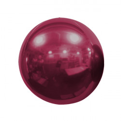 "BURGUNDY 40cm/16"" MIRROR GLOBE FOIL BALLOON"