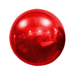 "RED 50cm/20"" MIRROR GLOBE FOIL BALLOON"