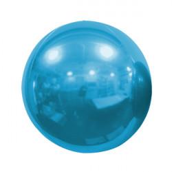 "LIGHT BLUE 50cm/20"" MIRROR GLOBE FOIL BALLOON"