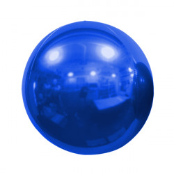 "BLUE 50cm/20"" MIRROR GLOBE FOIL BALLOON"