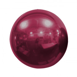 "BURGUNDY 50cm/20"" MIRROR GLOBE FOIL BALLOON"