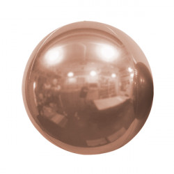 "ROSE GOLD 50cm/20"" MIRROR GLOBE FOIL BALLOON"