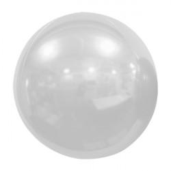 """WHITE 61cm/24"""" MIRROR GLOBE FOIL BALLOON"""