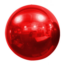 "RED 61cm/24"" MIRROR GLOBE FOIL BALLOON"