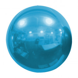 "LIGHT BLUE 61cm/24"" MIRROR GLOBE FOIL BALLOON"