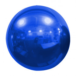 "BLUE 61cm/24"" MIRROR GLOBE FOIL BALLOON"