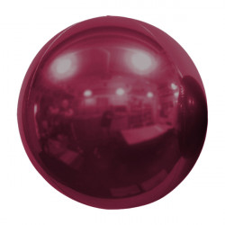 "BURGUNDY 61cm/24"" MIRROR GLOBE FOIL BALLOON"