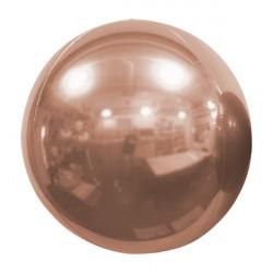 "ROSE GOLD 61cm/24"" MIRROR GLOBE FOIL BALLOON"