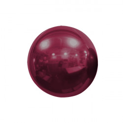 "BURGUNDY 18cm/7"" MIRROR GLOBE FOIL BALLOON"