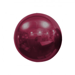 "BURGUNDY 25cm/10"" MIRROR GLOBE FOIL BALLOON"