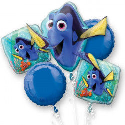 FINDING DORY 5 BALLOON BOUQUET P75 PKT