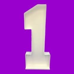 NUMBER 1 MOSAIC BALLOON FRAME (120cm)