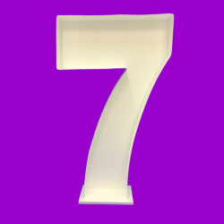 NUMBER 7 MOSAIC BALLOON FRAME (120cm)