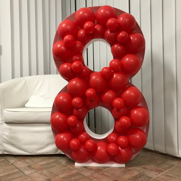 NUMBER 8 MOSAIC BALLOON FRAME (120cm x 76cm) - Balancebest