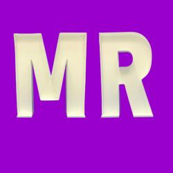 LETTER SET 'MR' MOSAIC BALLOON FRAME (100cm)