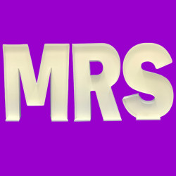 LETTER SET 'MRS' MOSAIC BALLOON FRAME (100cm)