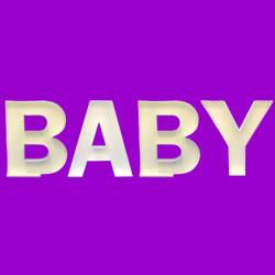 LETTER SET 'BABY' MOSAIC BALLOON FRAME (100cm)