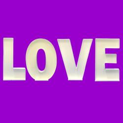 LETTER SET 'LOVE' MOSAIC BALLOON FRAME (100cm)