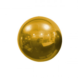 "BRONZE 18cm/7"" MIRROR GLOBE FOIL BALLOON"