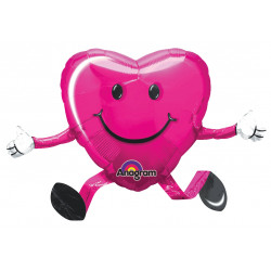 "HAPPY HUGS MAGENTA BALLOON BUDDIES AIRWALKER P40 PKT (19"" x 26"")"
