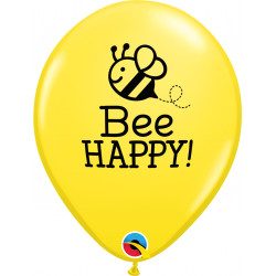 "BEE HAPPY 11"" YELLOW (25CT) LAC"