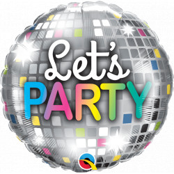 """LET'S PARTY DISCO BALL 18"""" PKT IF"""