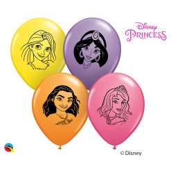 "DISNEY PRINCESS FACES 5"" YELLOW, ORANGE, ROSE & SPRING LILAC (100CT) UJ"