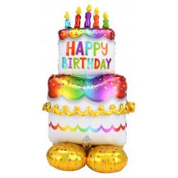 """CAKE BIRTHDAY P70 AIRLOONZ PKT (27"""" X 53"""")"""