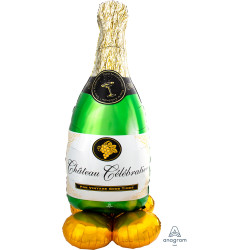 "BUBBLY WINE BOTTLE P70 AIRLOONZ PKT (24"" X 60"")"