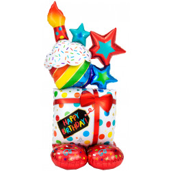 "STACKED BIRTHDAY ICONS P70 AIRLOONZ PKT (28"" X 55"")"