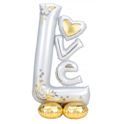 "L-O-V-E WEDDING P70 AIRLOONZ PKT (29"" X 58"")"