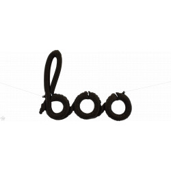 "BOO SCRIPT BLACK 40"" AIRFILLED SHAPE S1-01 PKT"