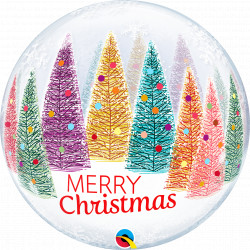 "CHRISTMAS TREES & SNOWFLAKES 22"" SINGLE BUBBLE YRV"