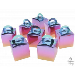 RAINBOW OMBRE BALLOON WEIGHT BOXES 8CT (YFR)