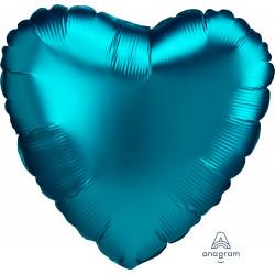 AQUA SATIN LUXE HEART STANDARD S15 PKT A