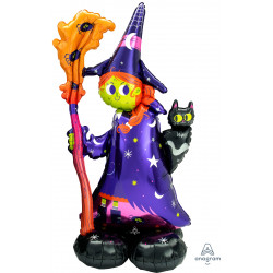 """SCARY WITCH P70 AIRLOONZ PKT (24"""" X 55"""")"""
