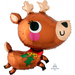 "ADORABLE REINDEER SHAPE P35 PKT (30"" x 30"")"