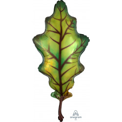 "FALL GREEN OAK LEAF SHAPE P30 PKT (20"" x 42"")"