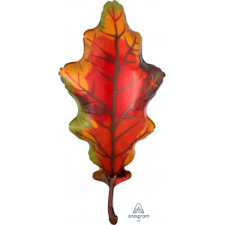 "FALL RED OAK LEAF SHAPE P30 PKT (20"" x 42"")"