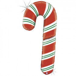 "CANDY CANE HOLOGRAPHIC 60"" SPECIAL DELIVERY SHAPE PKT"