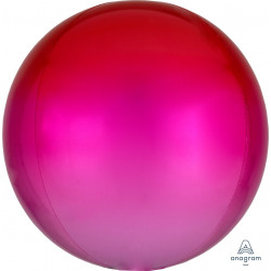 """RED & PINK OMBRE ORBZ G20 FLAT (15"""" x 16"""") (3CT)"""