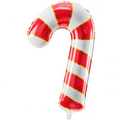 CANDY CANE RED SHAPE 50cm X 82cm PKT