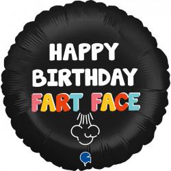 "FART FACE HAPPY BIRTHDAY 18"" PKT"