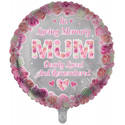 "MUM REMEMBRANCE 18"" ROUND PKT"