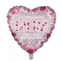 "MUM REMEMBRANCE 18"" HEART PKT"