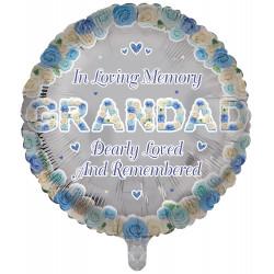 """GRANDAD REMEMBRANCE 18"""" ROUND PKT"""