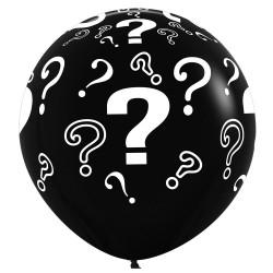 "QUESTION MARK ? 36"" BLACK FASHION SEMPERTEX (2CT)"