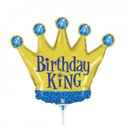 """BIRTHDAY KING 14"""" MINI SHAPE FLAT"""